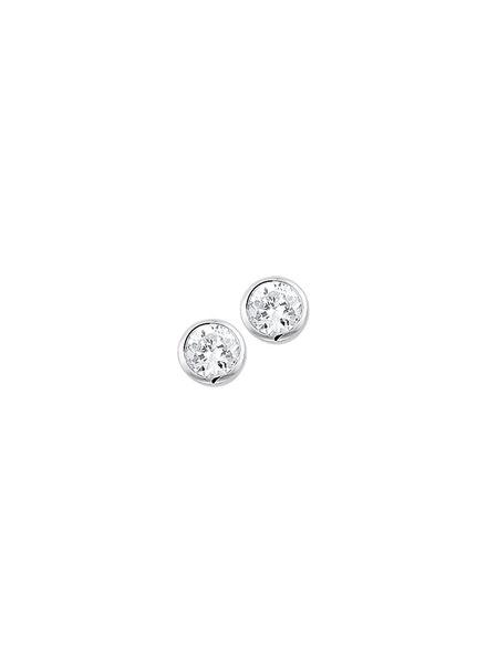 Tomylo Zilveren oorknoppen met zirkonia