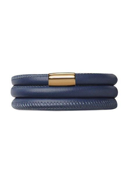 Armband Blue Triple Gold Plated