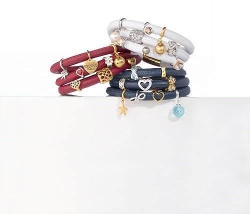 Endless Armband Blue Triple Gold Plated