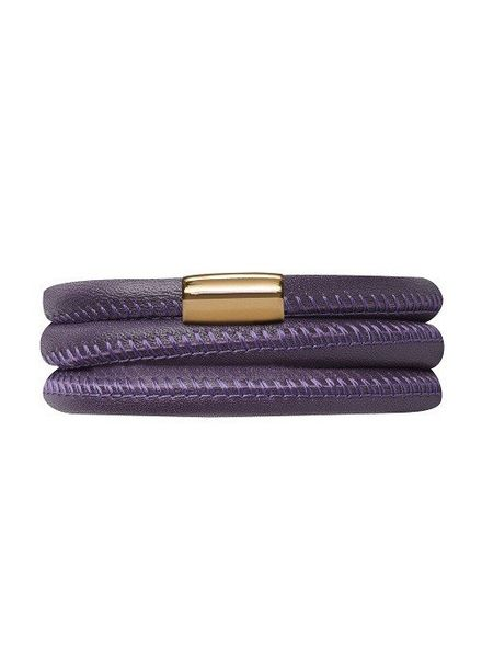 Endless Armband Purple Triple Gold Plated