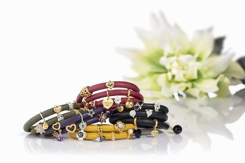 Endless Armband Red Double Gold Plated