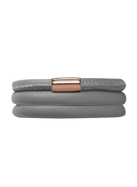 Armband Grey Triple Rose Gold Plated