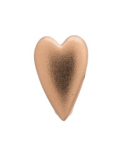 Bedel Brushed Heart Rose Gold Plated