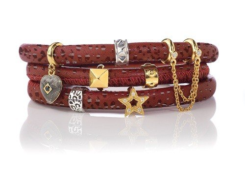 Armband Red Reptile Triple