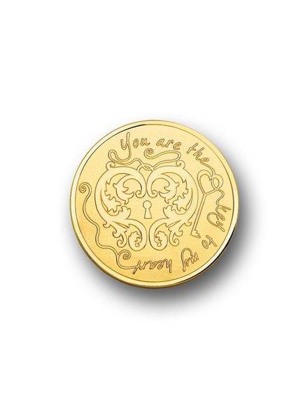 Mi Moneda Munt MON-KEY-02-L KEY & XOX Gold