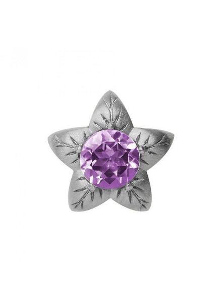 Endless Bedel 21406 Amethyst Flower Silver