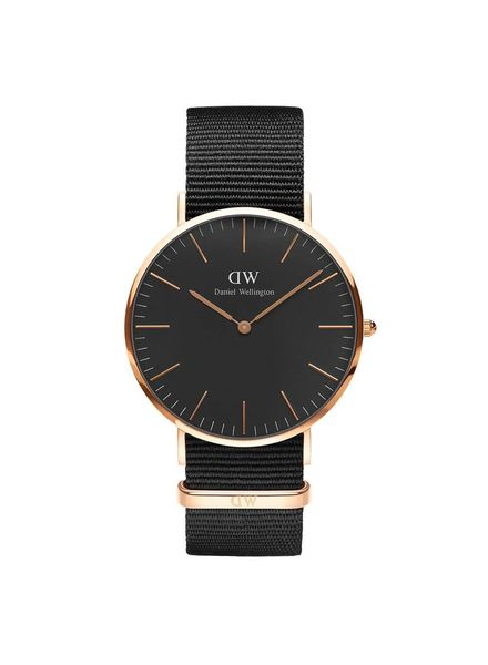 Daniel Wellington Horloge Classic Black Corwall Rosé 40 mm.