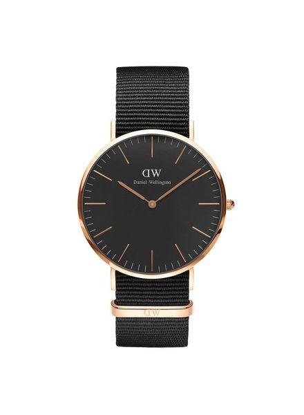 Horloge Classic Black Corwall Rosé 40 mm.
