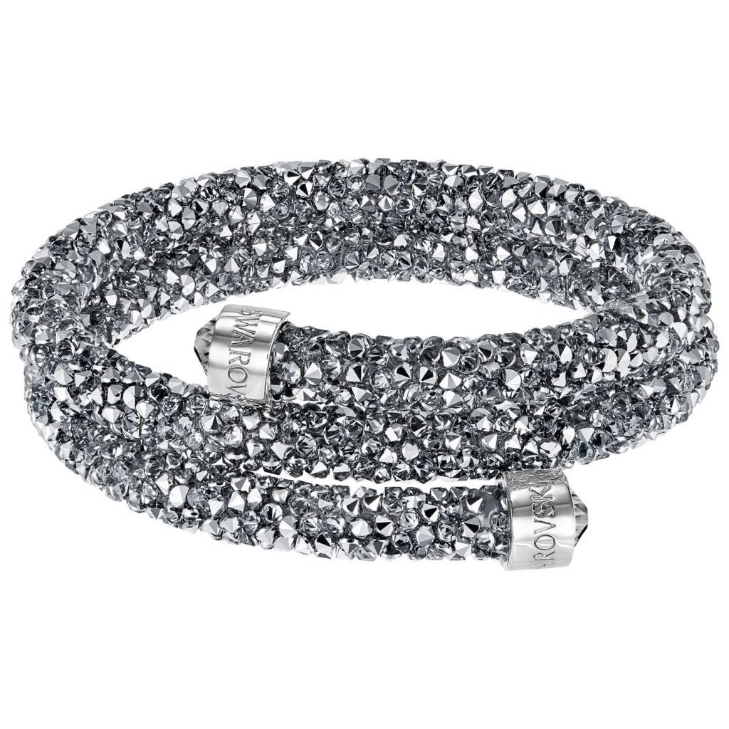 Swarovski 5237762 Crystaldust armband Double Antraciet