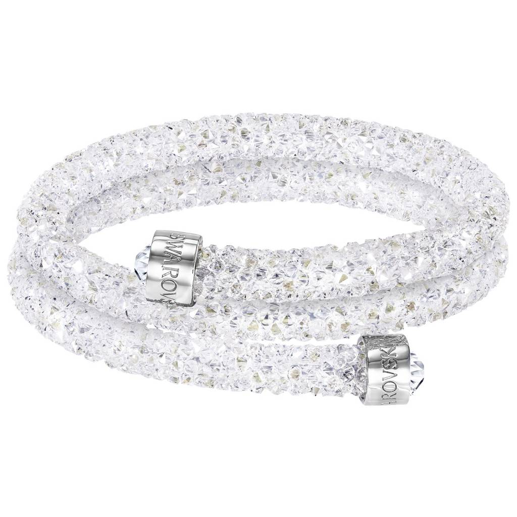 Swarovski armband Crystaldust Double  wit - 5255900