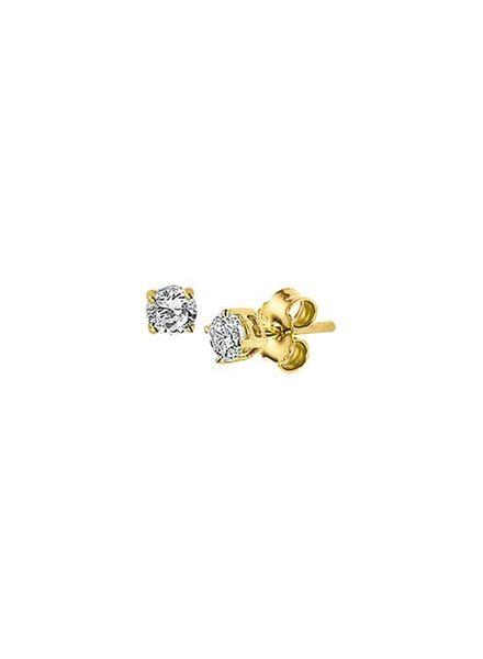 Tomylo gouden solitair oorknoppen - 235292
