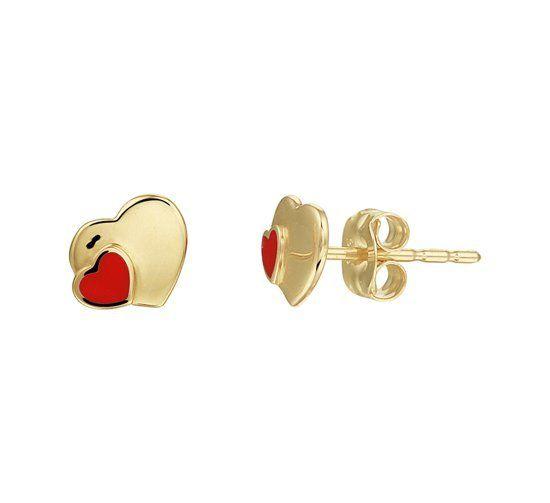 Tomylo gouden oorknoppen hartjes - 4019389