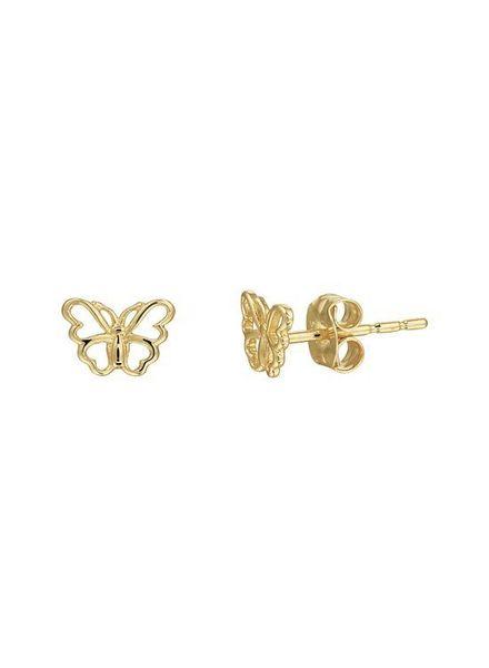 Tomylo gouden oorknoppen vlinder - 4019387