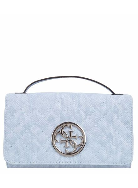Guess tas G Lux Mini Wallet on a string Sky HWLZ6623790SKY