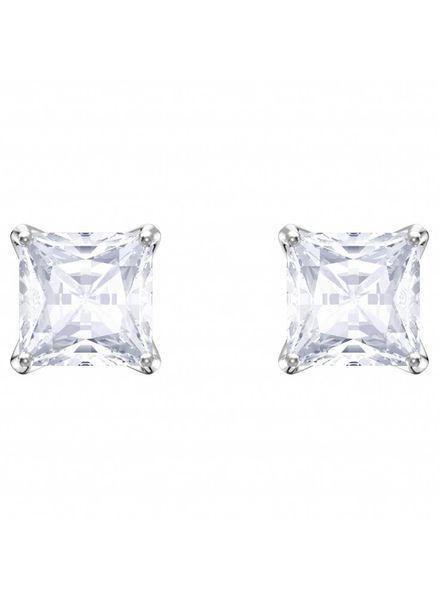 Swarovski oorknoppen Attract Stud Pierced Earrings, White, Rhodium plating 5430365