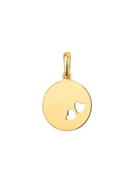 Tomylo hanger gouden graveerplaatje met hartjes