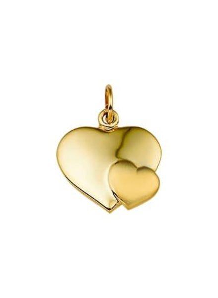Tomylo Geelgouden graveerplaat met klein hart