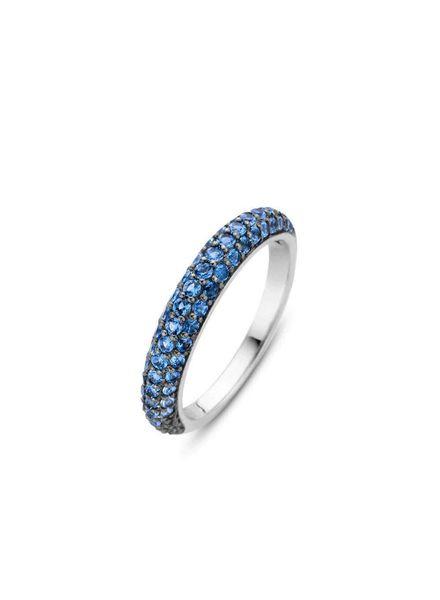 Ti Sento ring met blauwe zirconia's 12105DB/54
