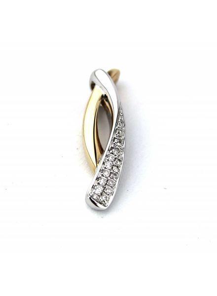 ROEMER ROEMER bicolor hanger met diamant