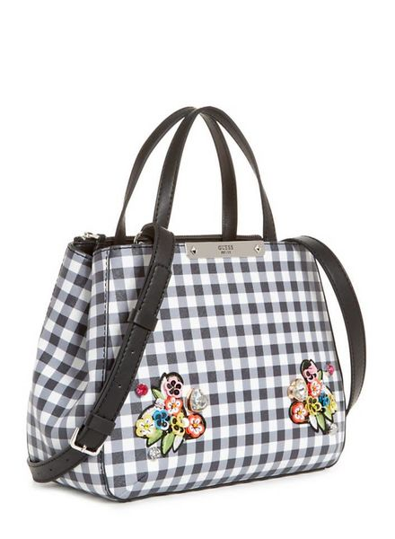 Guess handtas Britta Small Society Satchel Checker HWGI6693050CHK