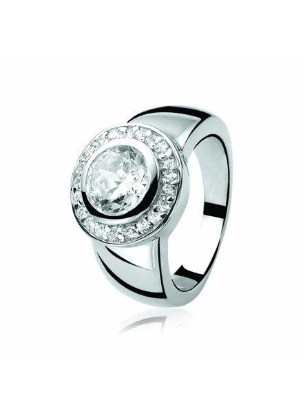 Zinzi zilveren ring met zirconia zir460w54