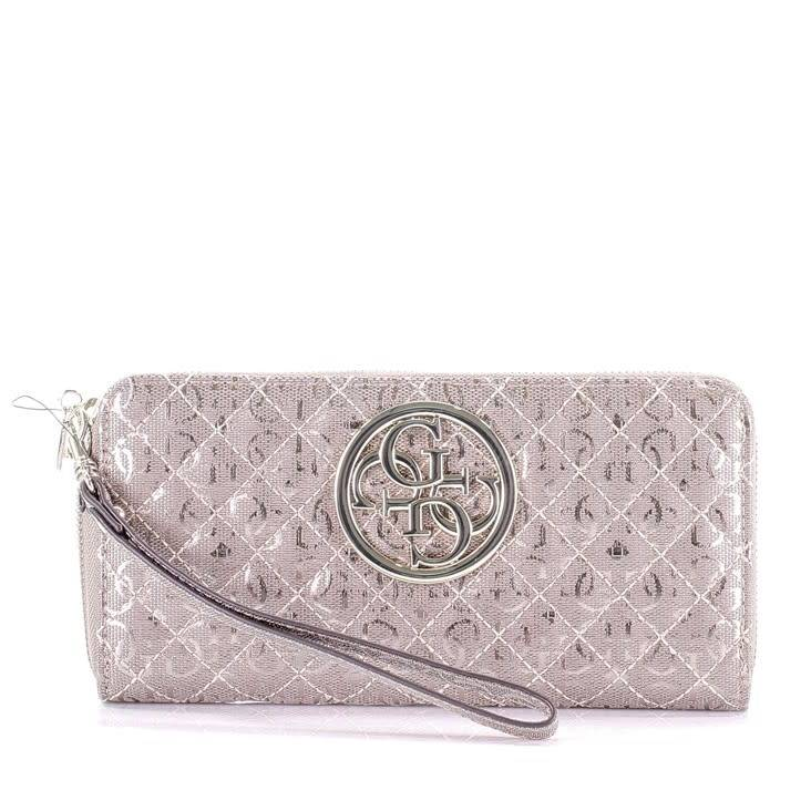 Guess portemonnee Gioia slg large zip around SWMG6989460PEW