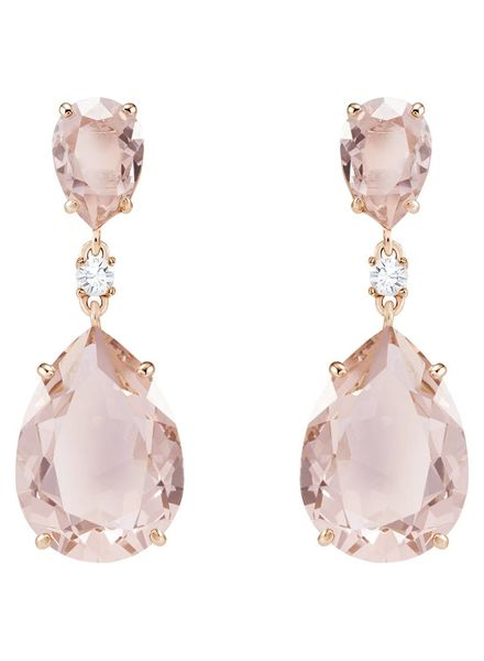 Swarovski Swarovski  Vintage Drop Pierced Earrings, Pink, Rose gold plating 5424361