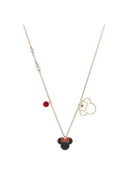 Swarovski Swarovski collier Mickey & Minnie Pendant, Multi-colored, Rose gold plating 5429090