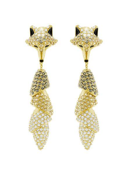 Swarovski Swarovski Oorstekers March Fox Pierced Earrings, Multi-colored, Gold plating 5409357