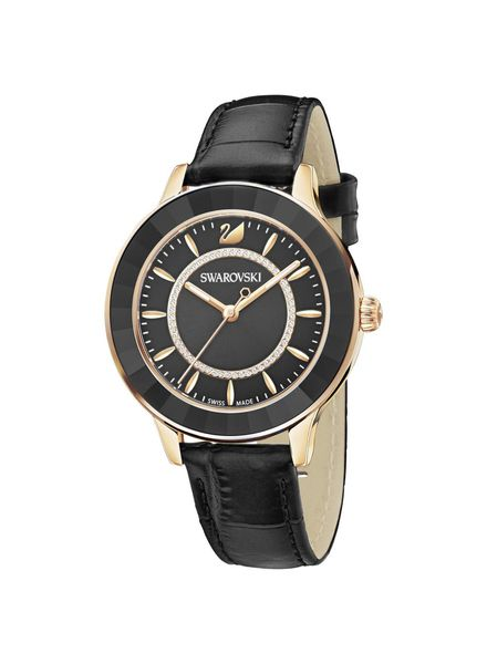 Swarovski Swarovski horloge Octea Lux Watch, Leather strap, Black, Rose gold tone 5414410