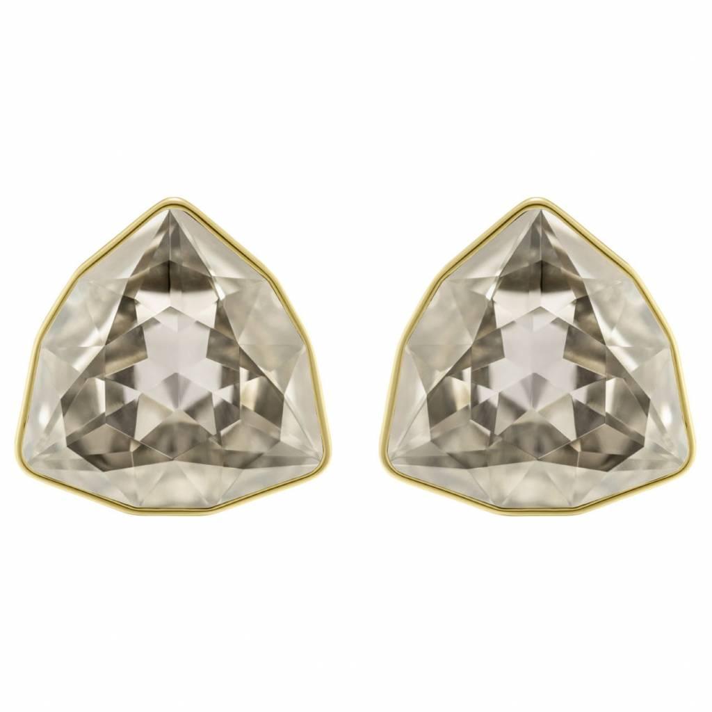 Swarovski Swarovski March Fox Stud Pierced Earrings, Gray, Gold plating 5421726