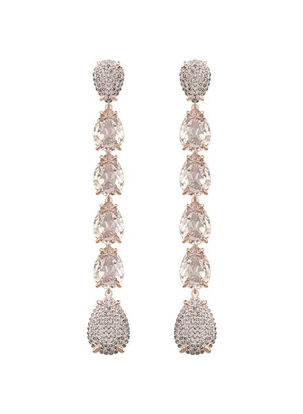 Swarovski Swarovski Mix Pierced Earrings, Pink, Rose gold plating 5427953