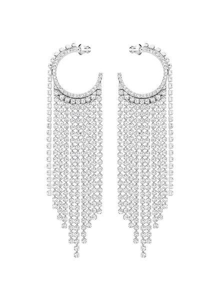 Swarovski Swarovski Fit Hoop Pierced Earrings, White, Rhodium plating 5421821