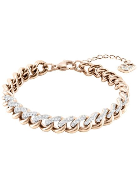 Swarovski Swarovski Lane Bracelet, White, Rose gold plating 5424232