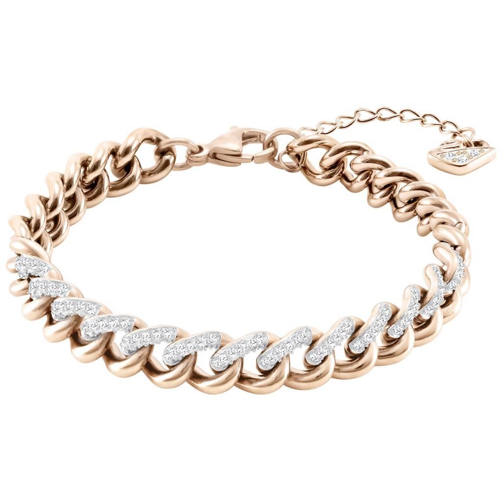Swarovski Swarovski Lane Bracelet, White, Rose gold plating 5424232