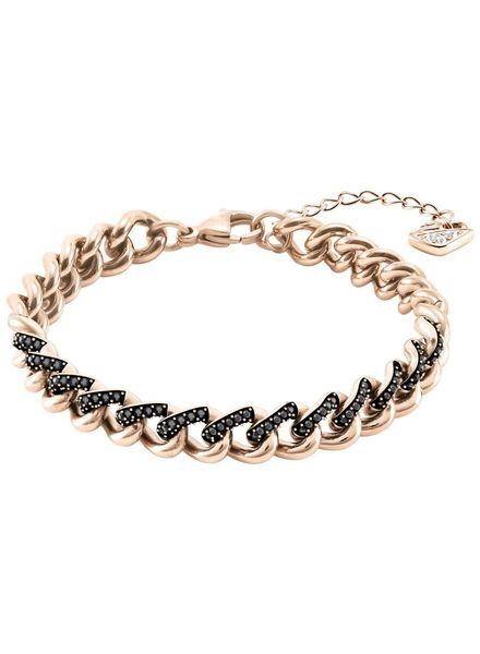 Swarovski Swarovski Lane Bracelet, Black, Rose gold plating 5414993