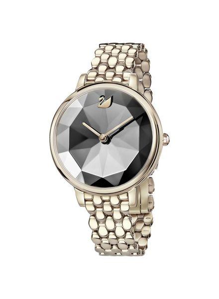 Swarovski Swarovski Crystal Lake Watch, Metal bracelet, Dark Gray, Champagne gold tone 5416026