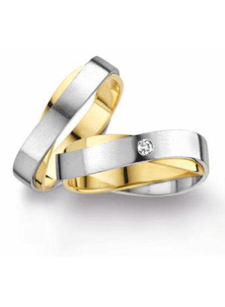 Edeldesign Wit- met Geelgouden trouwringen 131