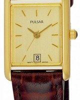 Pulsar Horloge DAMES DOUBLE LEREN BAND