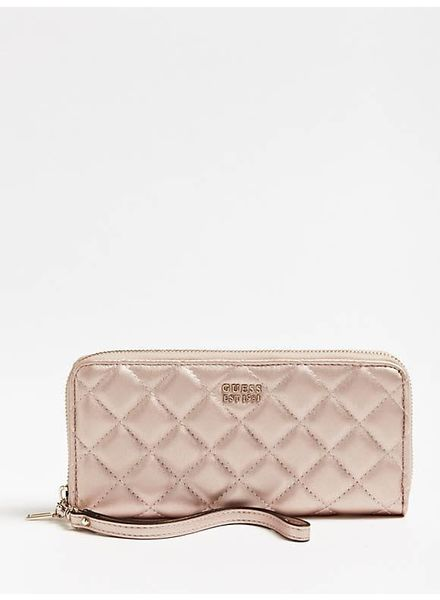 Guess Guess portemonnee Victoria zip around champagne SWVG7107460