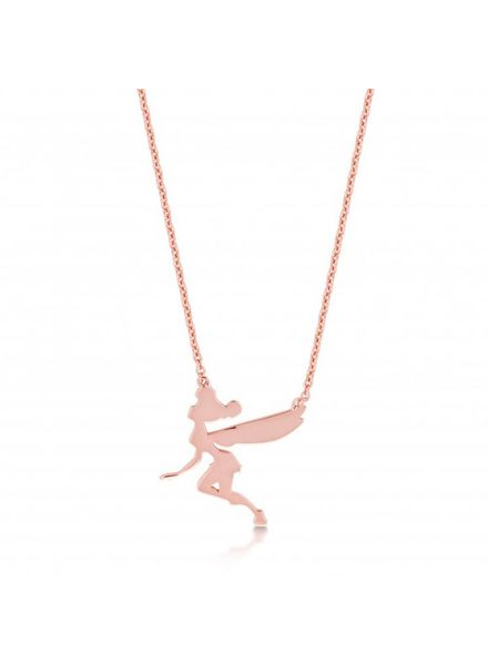 Disney Disney ketting met Tinkerbell hanger rosé verguld