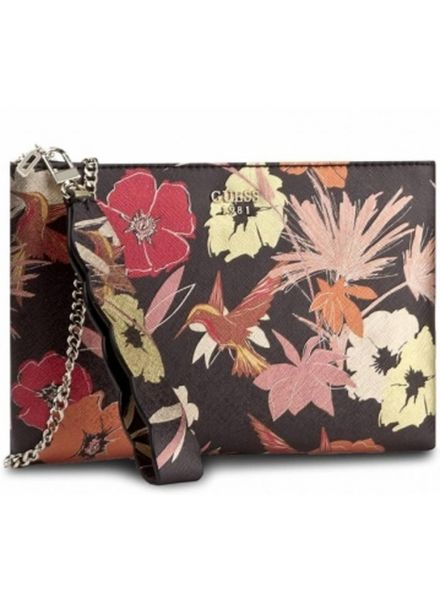 Guess Tas Fall in Love Crossbody Clutch Floral - HWMF6790720BKF