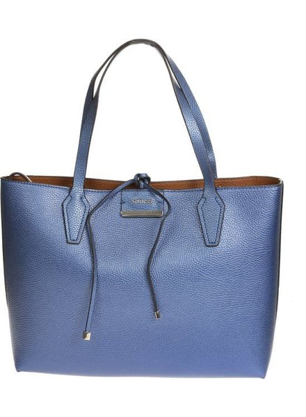 Guess Tas Bobbi in side out blue cognac - HWVG6422150BCO