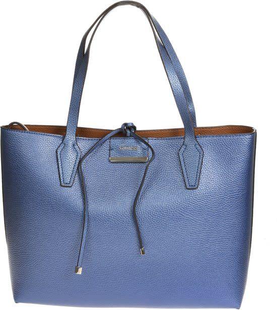 Guess Tas Bobbi in side out blue cognac - HWVG6422150BCO