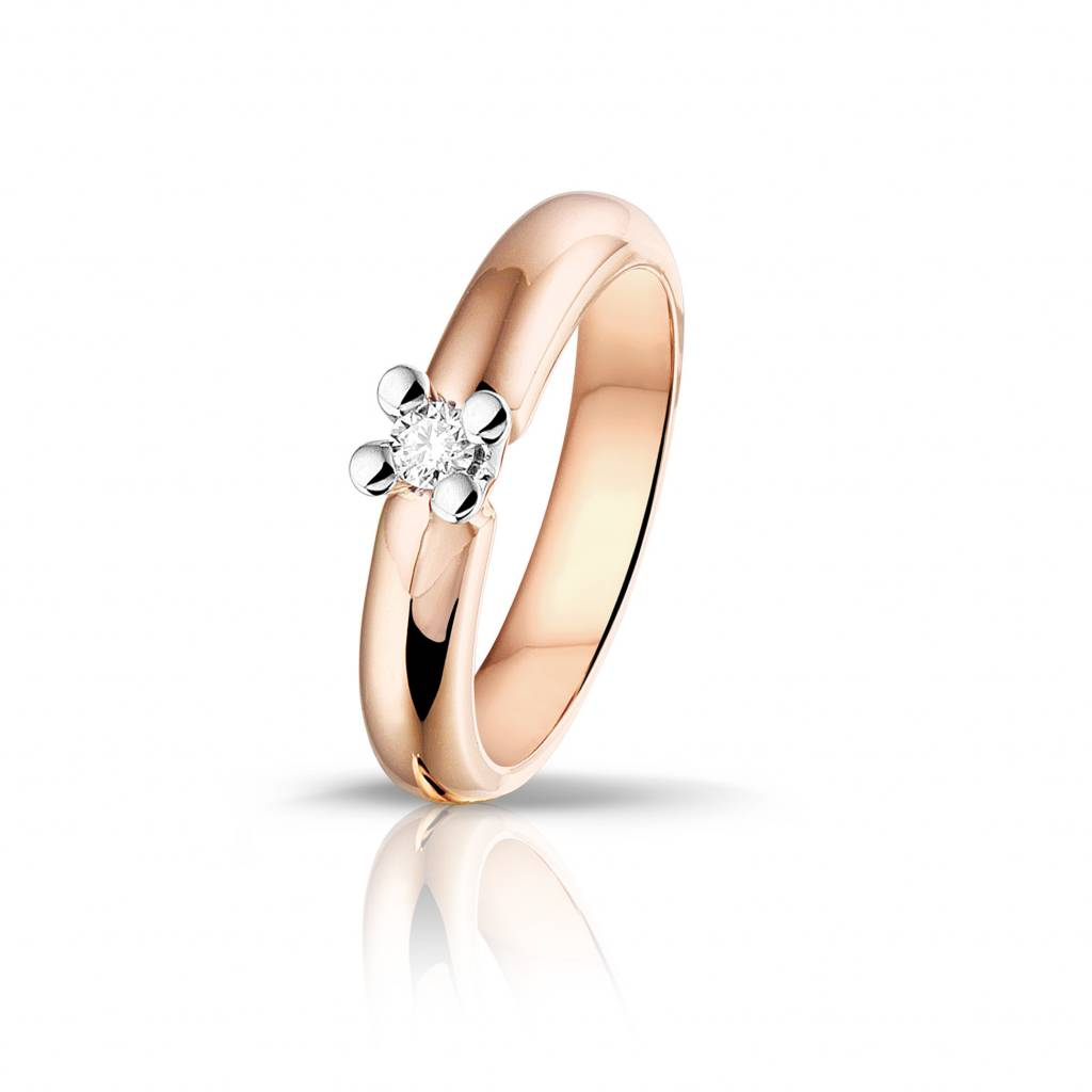 Passione Passione ring met 0,09 ct. briljant GD1802 14K /55