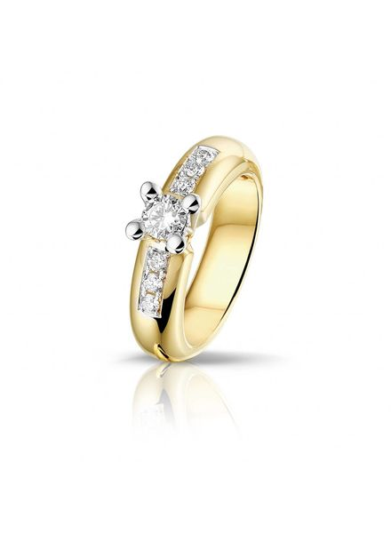 Passione Passione ring met 0.50 ct. briljant GD1821 14K/55