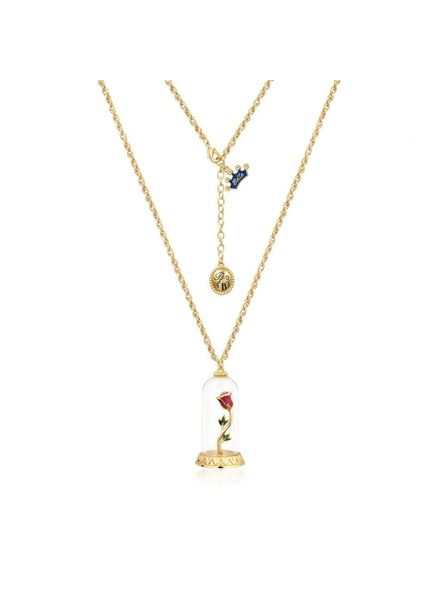 Disney Disney ketting met Beauty & the Beast hanger roos in stolp