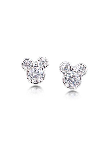 Disney Disney Mickey Mouse Oorknoppen zilverkleurig met steentje