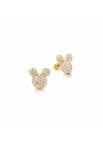 Disney Disney Mickey Mouse oorknoppen goudkleurig met pavé steentjes