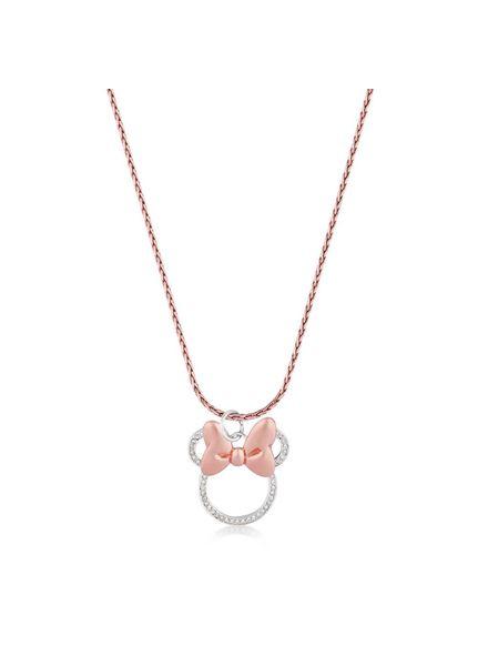 Disney Disney ketting met Minnie Mouse strik rosékleurig met steentjes